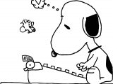 Snoopy Birthday Gift For Mom Coloring Page