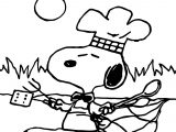 Snoopy Cartoon Make Food Coloring Page
