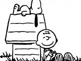 Snoopy Charlie Brown Peanuts Coloring Pages