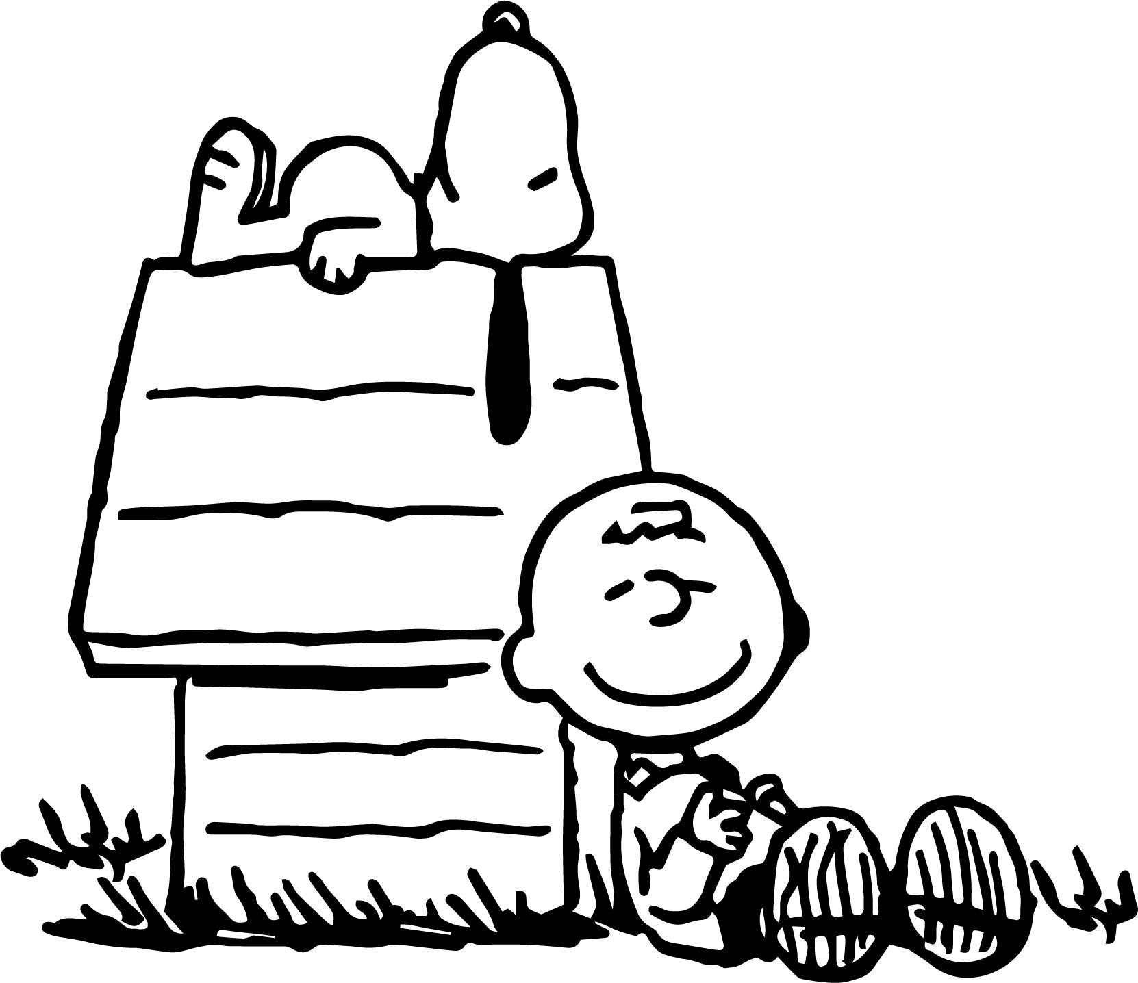 Snoopy Charlie Brown Peanuts Coloring Pages | Wecoloringpage