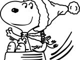 Snoopy Christmas Sleigh Coloring Page