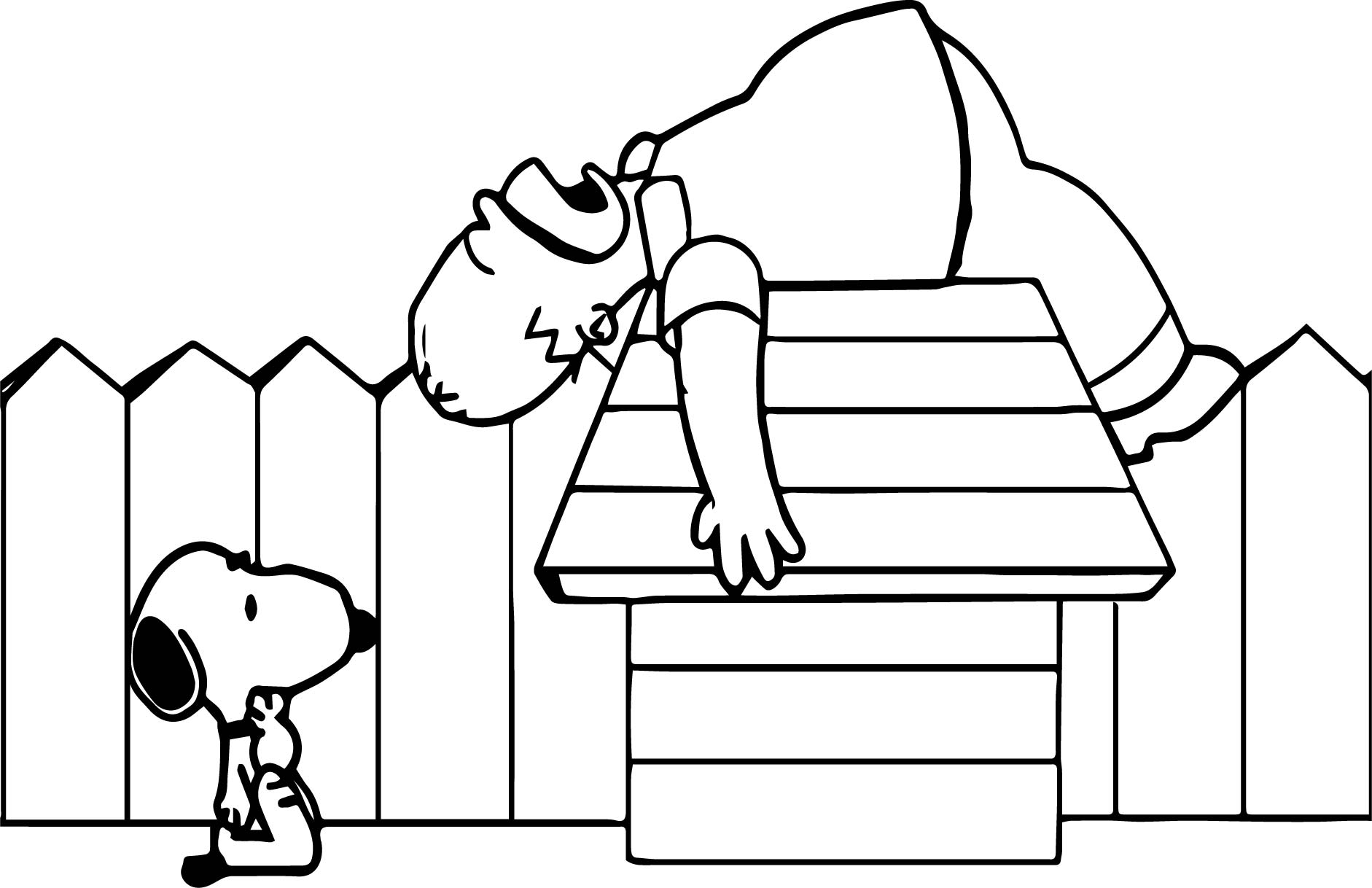 Snoopy Confuzzled Coloring Page