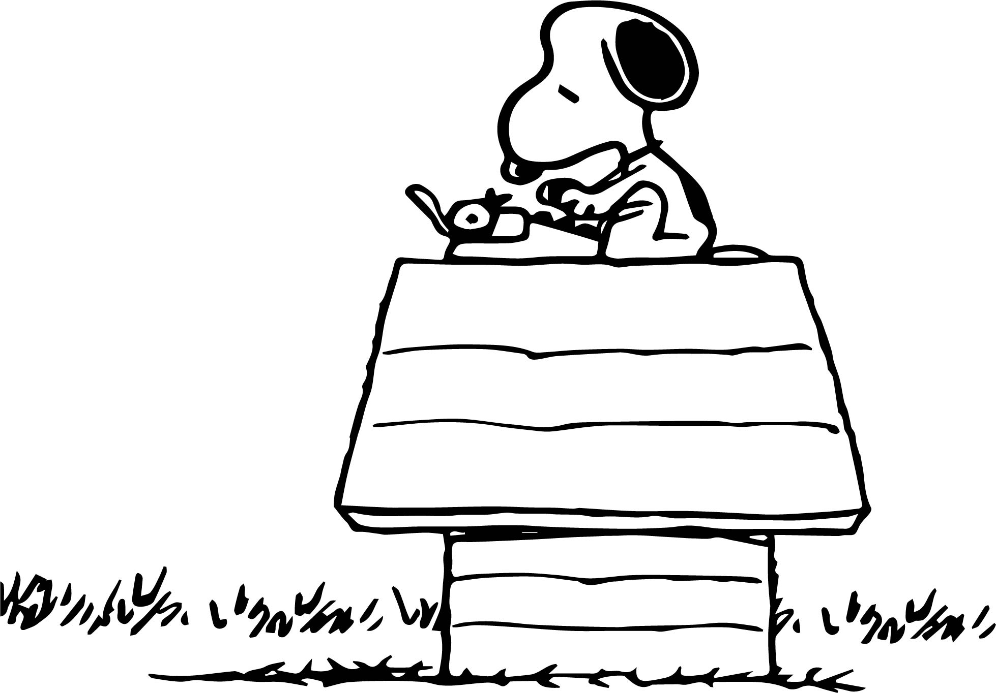 Snoopy Free Download Coloring Page