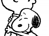 Snoopy Hug Coloring Page
