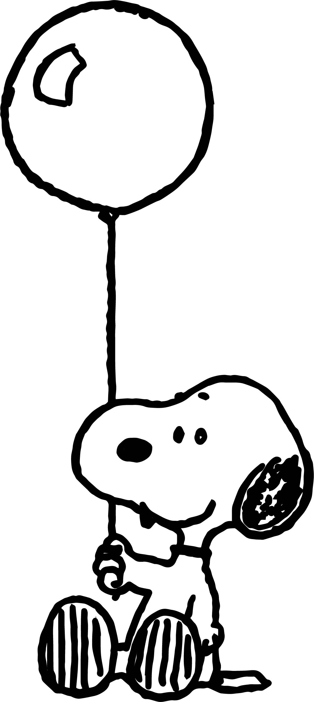 Snoopy Kon Colors Balloon Coloring Page Wecoloringpage