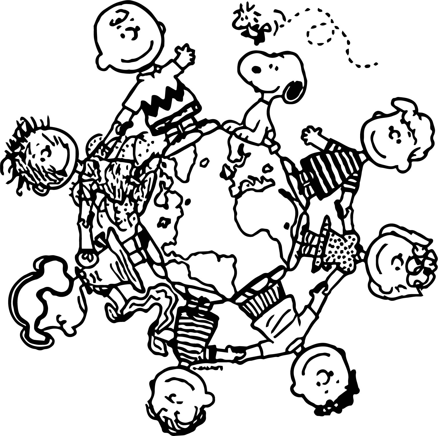 peanuts characters coloring pages - photo#27