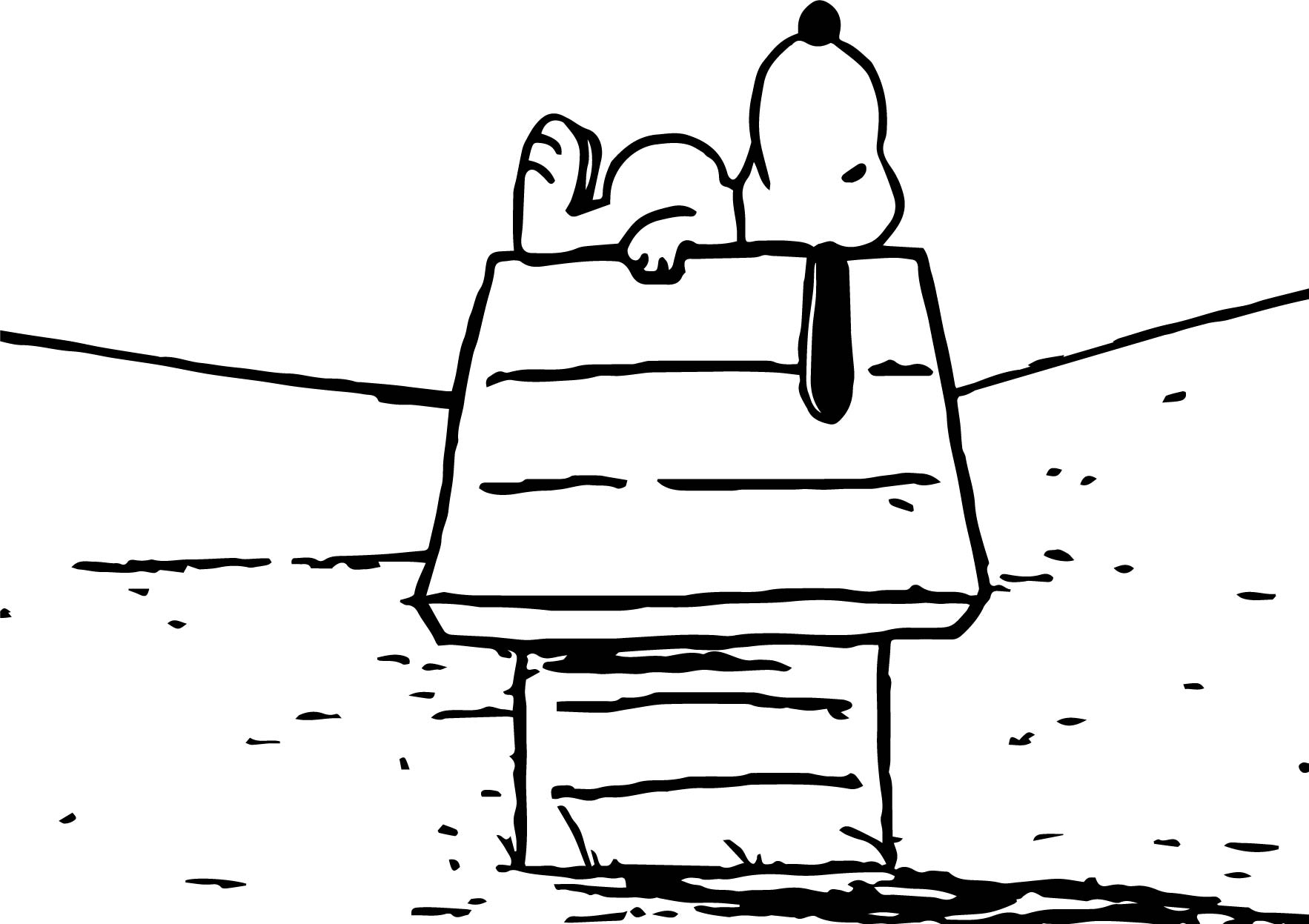 Snoopy Look Sky Coloring Page