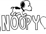 Snoopy Pictures Coloring Page