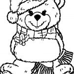 Snow Girl Bear Toy Coloring Page
