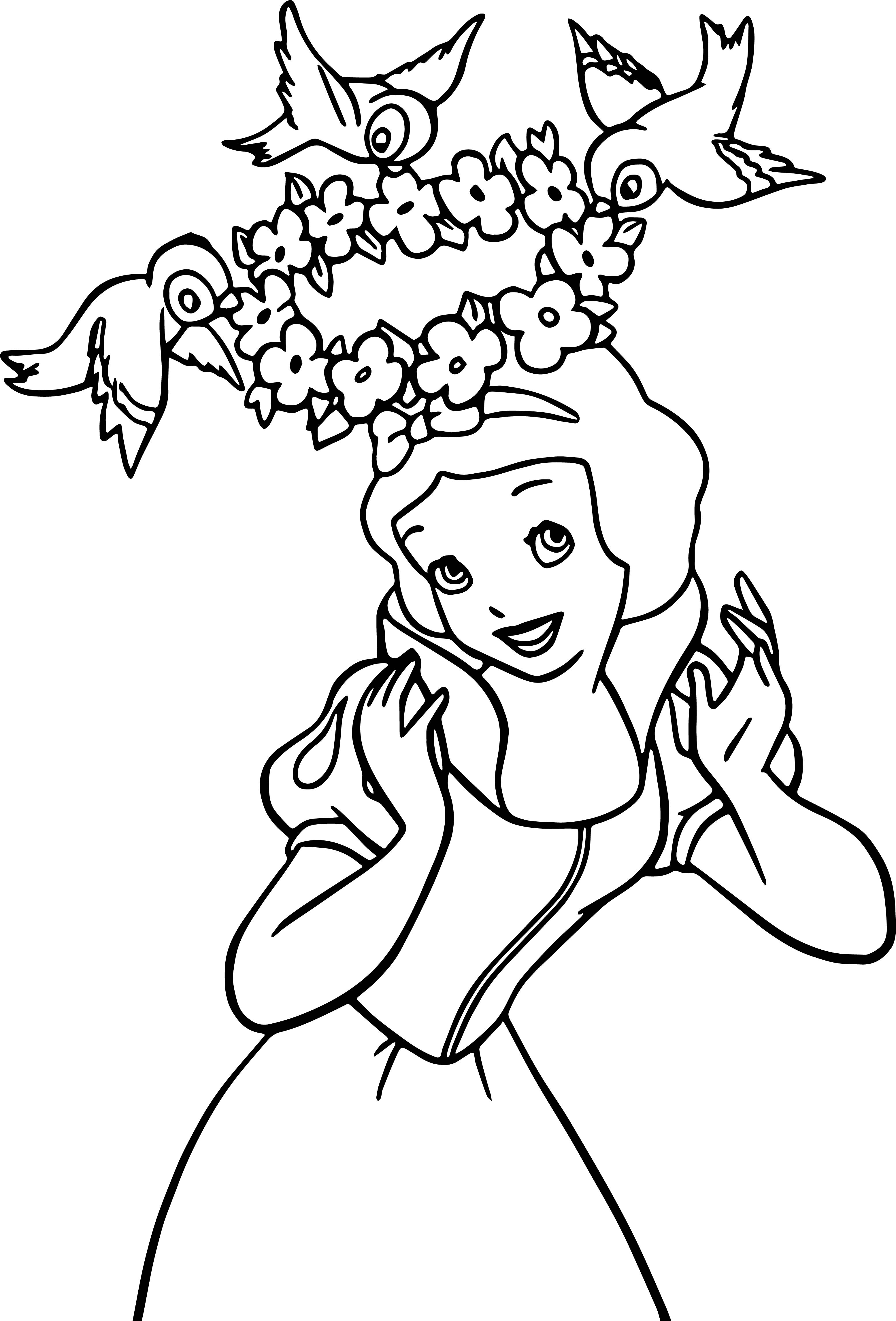 Snow White Birds Coloring Page