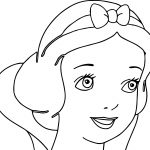 Snow White Cute Face Coloring Page