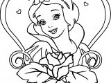 Snow White Flower Heart Coloring Page