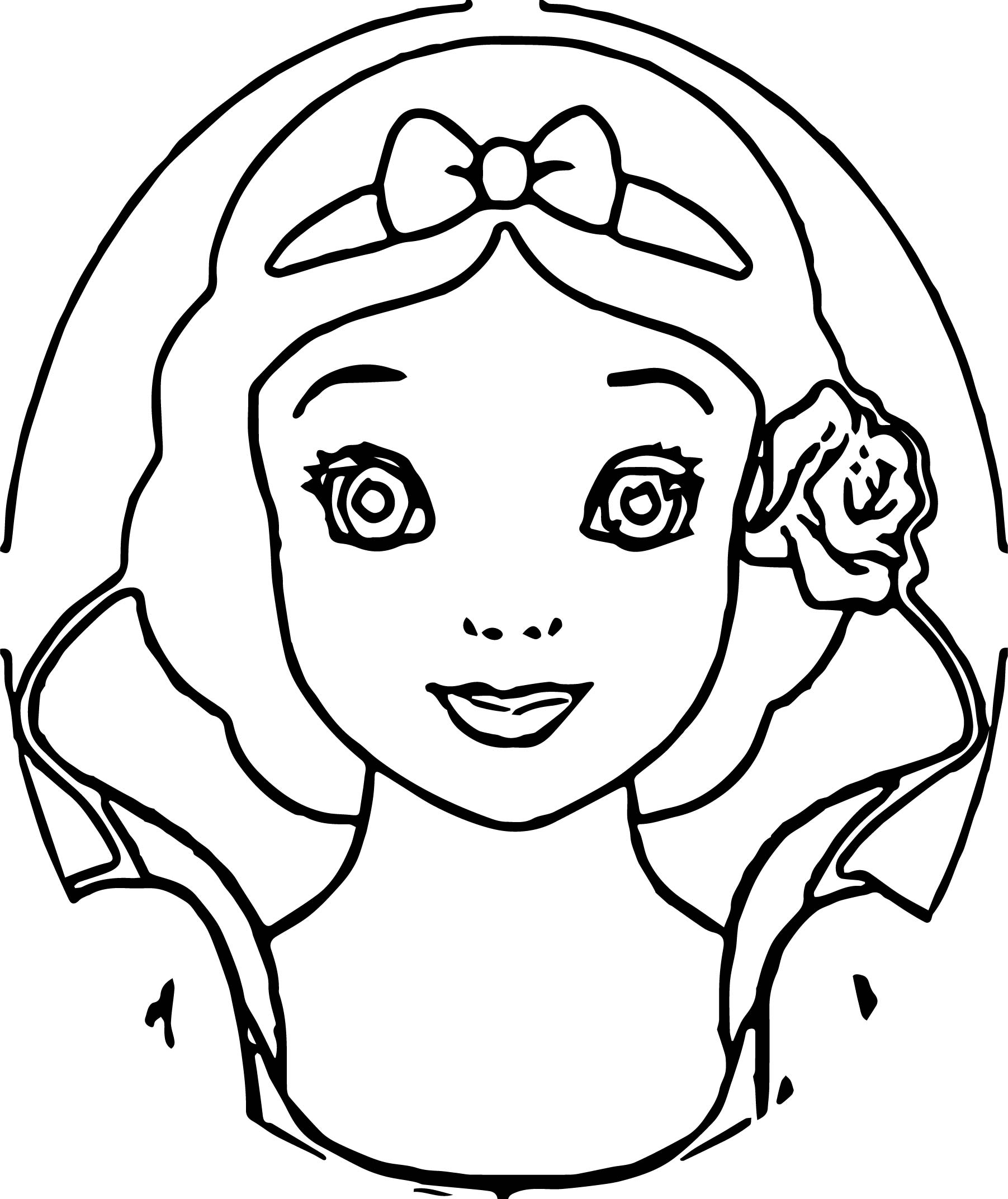 Snow White Front View Coloring Pages
