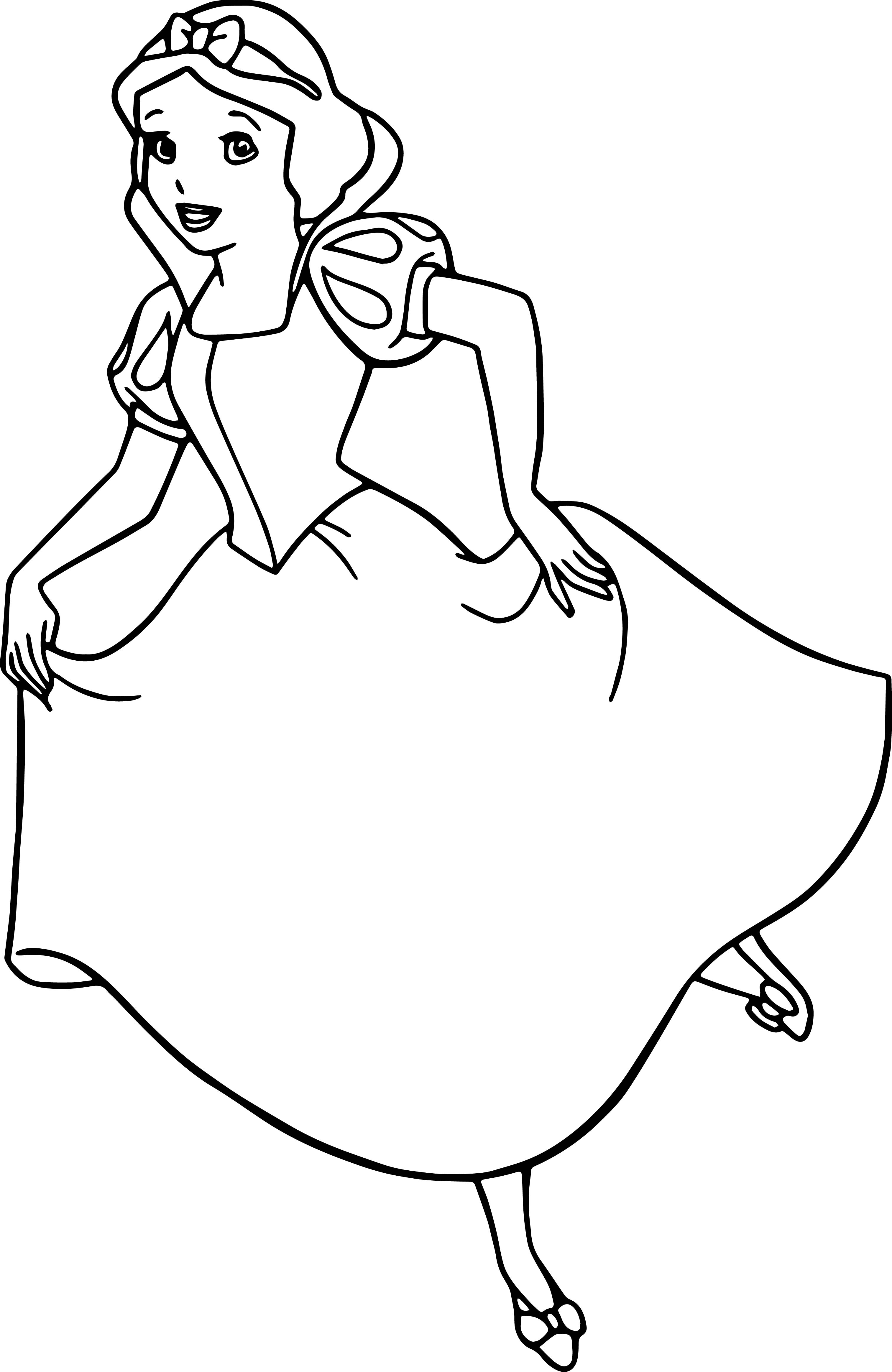 Snow White Walk Coloring Page