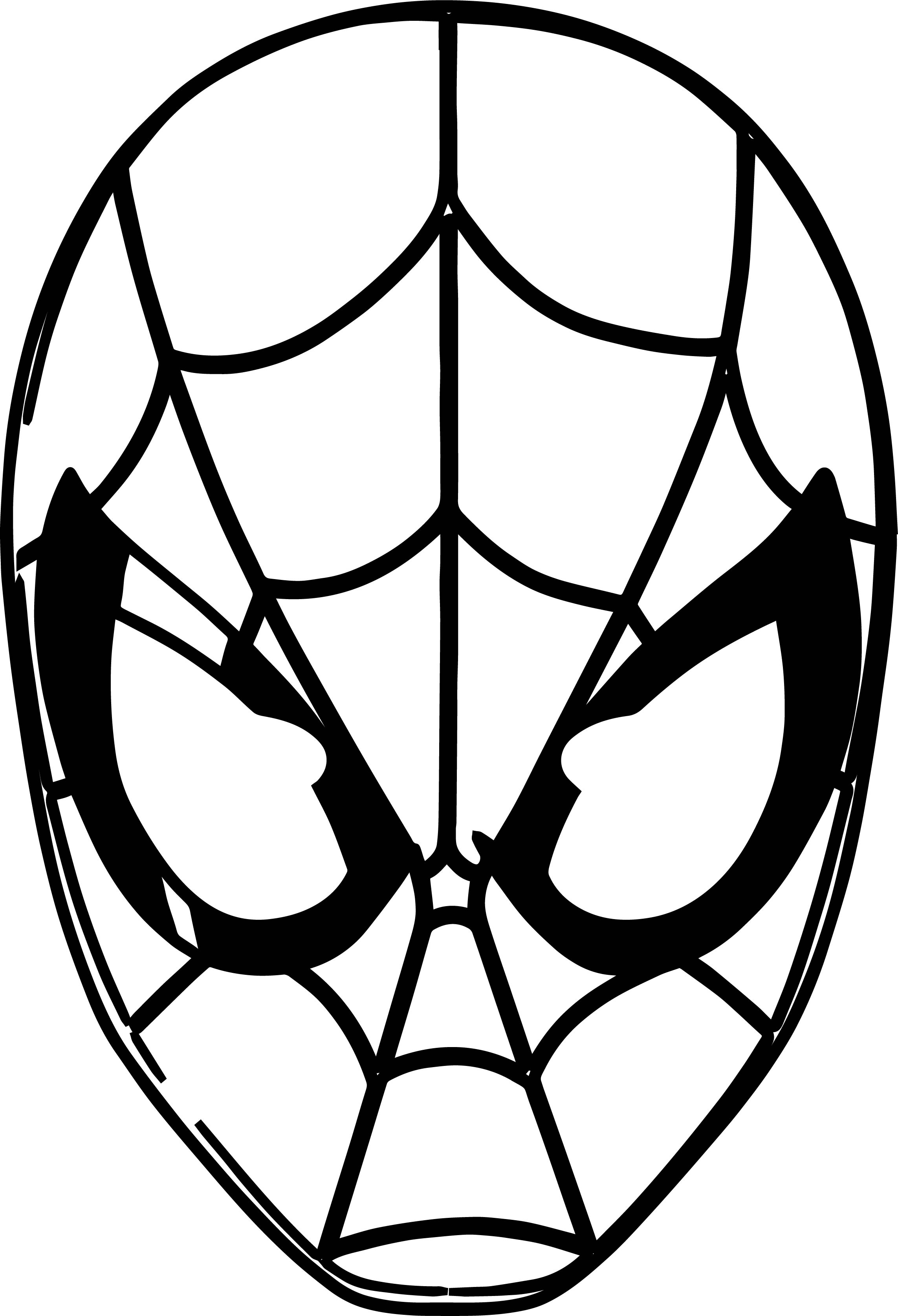 Spider Man Masks Pack Of Spider Man Coloring Page