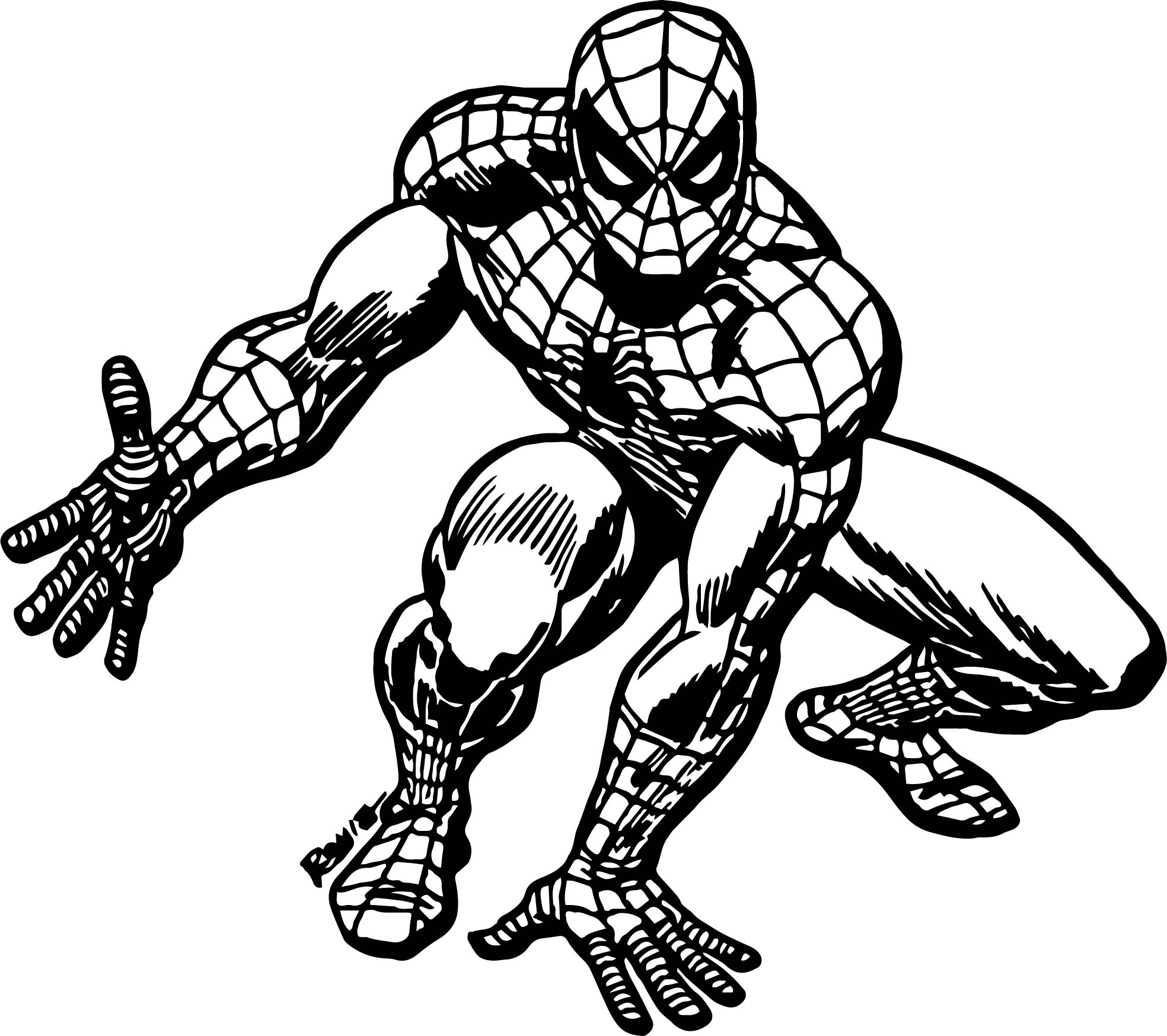 Spider Man Romita Spider Man Coloring Page