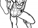 Spiderman Leap Spider Man Coloring Page