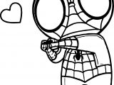 Spiderman Love Coloring Page