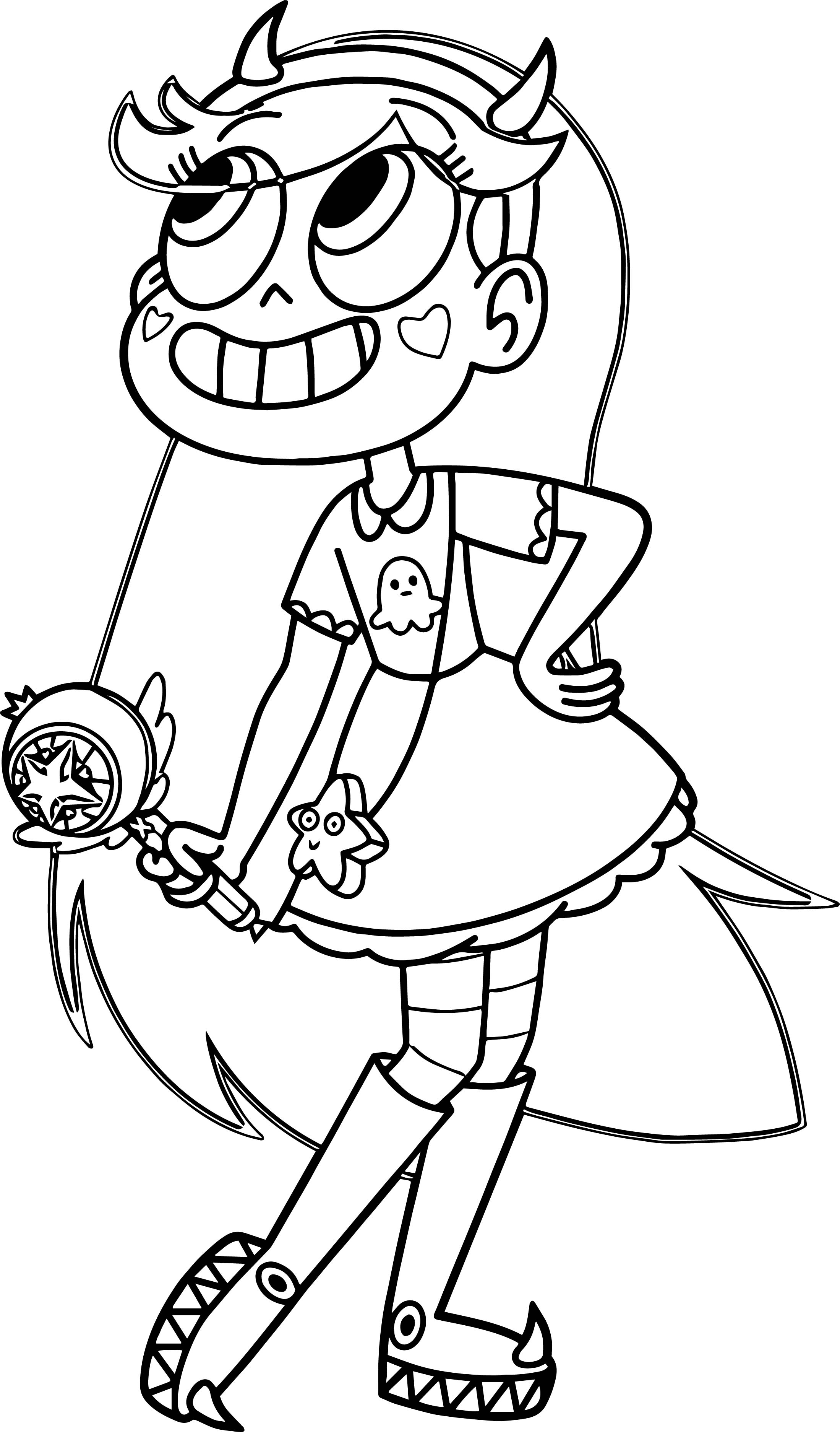Regular Princess Coloring Pages : Star vs the forces of evil coloring pages printable
