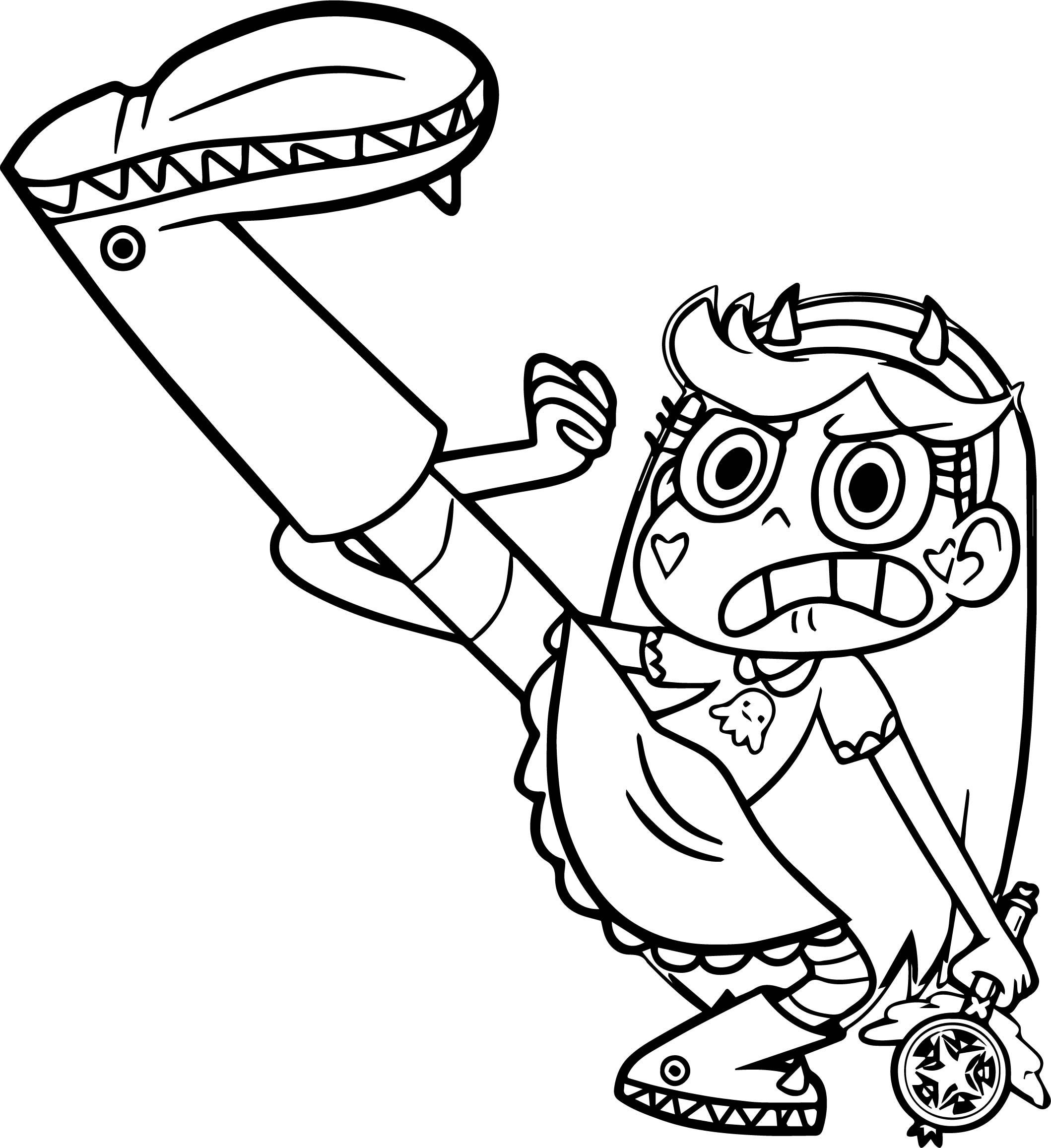 Star Vs The Forces Of Evil Kick Butterfly Coloring Page