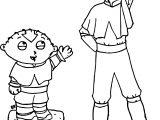 Stewie Meets Aang Ladywinter Avatar Aang Coloring Page