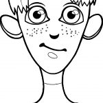 Tall Boy Face Coloring Page