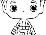 Teen Titans Go Beast Boy Dc Comics Pop Vinyl Funko Trampt Coloring Page