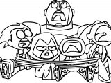 Teen Titans Go Robin Catched Team Coloring Page