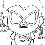Teen Titans Go Robin What Coloring Page