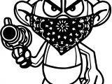 Temp Image Gangsta Smurf Coloring Page