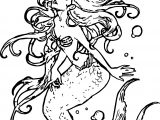 The Ariel Mermaid Coloring Page