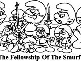 The Fellowship Of The Smurf Coloring Page