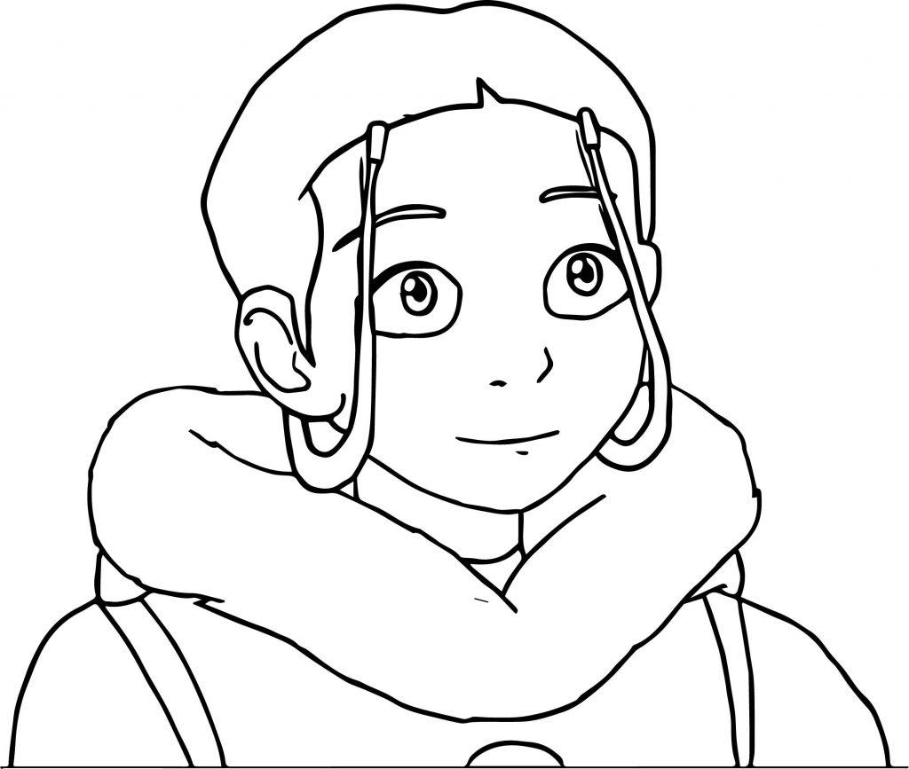 Avatar Aang Coloring Page: The Legend Of Aang Katara Portrait Dejakob Dampi Avatar