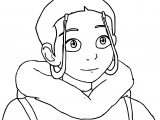 The Legend Of Aang Katara Portrait Dejakob Dampi Avatar Aang Coloring Page