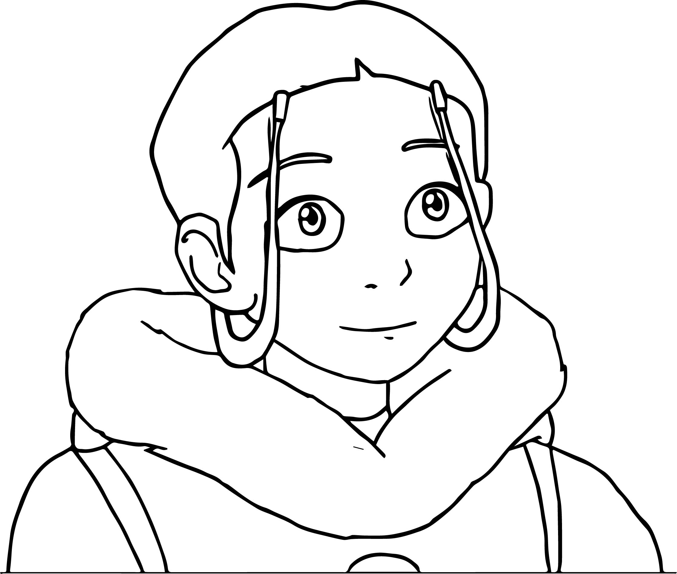The Legend Of Aang Katara Portrait Dejakob Dampi Avatar Aang Coloring Page