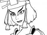 The Legend Of Aang Suki Portrait Dejakob Daqc Avatar Aang Coloring Page