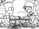 The Simpsons Bart And Girlfriend Coloring Page