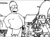 The Simpsons Burning Guy Coloring Page