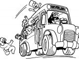 The Simpsons Catch Car Coloring Page