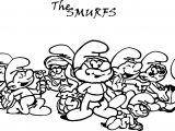 The Smurfs All Coloring Page