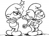 The Smurfs Cartoon Image Papa Smurf Smurf Coloring Page