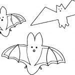 Three Bat Coloring Page