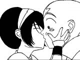 Toph Kiss Aang Color Sangoten Style Avatar Aang Coloring Page