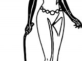 Woman Bat Girl Coloring Page
