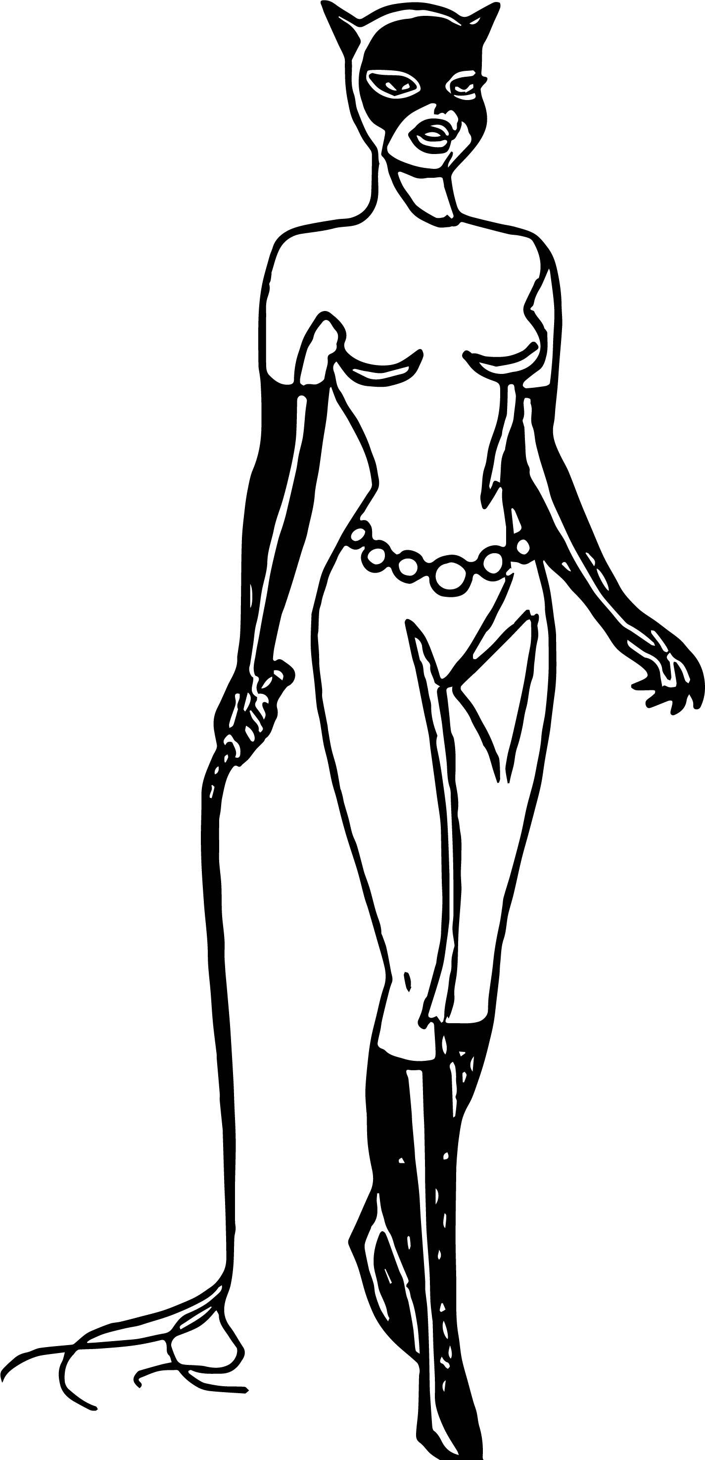Woman Bat Girl Coloring Page | Wecoloringpage.com