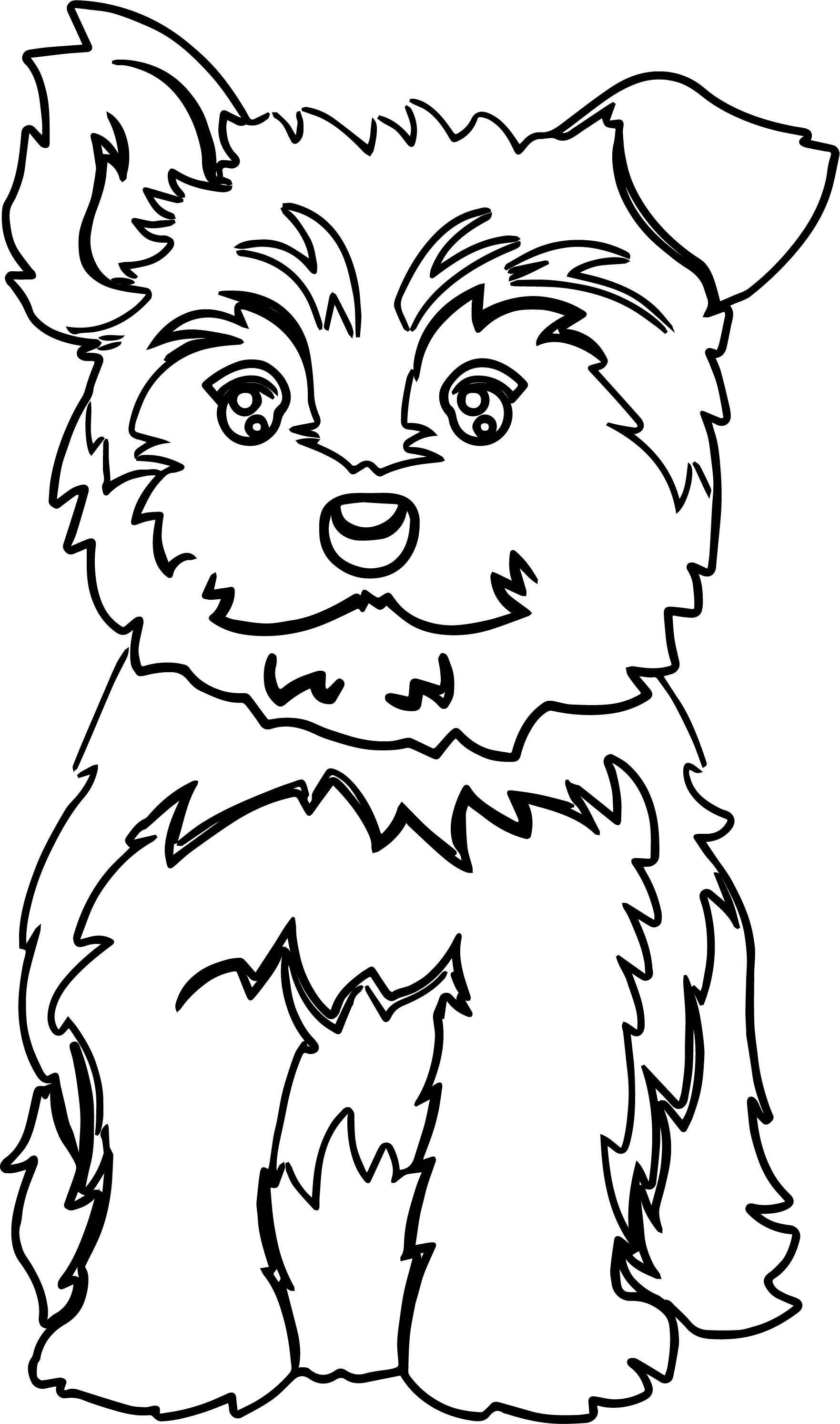 Yorkie puppy color dog puppy coloring page for Yorkie coloring pages