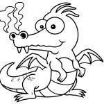 Cartoon Dinasour Coloring Page
