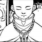 Aang At Peace Avatar Aang Coloring Page
