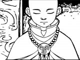 Aang At Peace Avatar Aang Coloring Page
