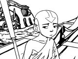 Aang Avatar Sad Aang Coloring Page